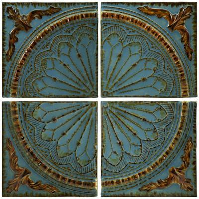 Blue Quarter Medallion Wall Panel Set