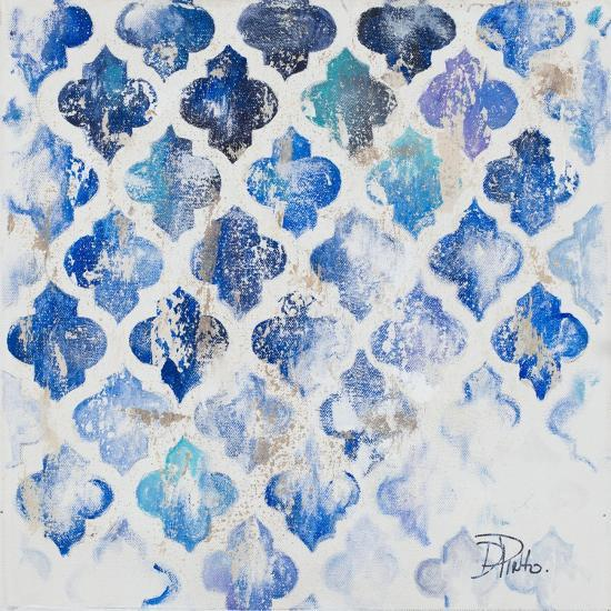 Blue Quatrefoil II-Patricia Pinto-Art Print