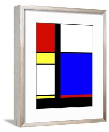 Blue Rectangle-Diana Ong-Framed Giclee Print