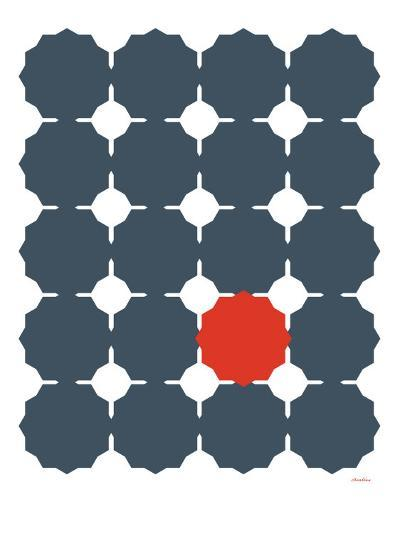 Blue Red Cut-out-Avalisa-Art Print