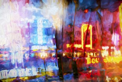 Blue & Red - In the Style of Oil Painting-Philippe Hugonnard-Giclee Print