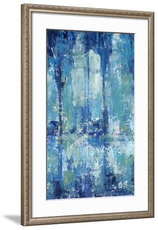 Blue Reflection Triptych II-Tim O'toole-Framed Art Print