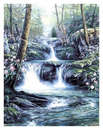 Blue Ridge Falls-Egidio Antonaccio-Art Print