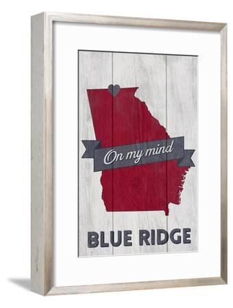 Blue Ridge, Georgia - on My Mind-Lantern Press-Framed Art Print