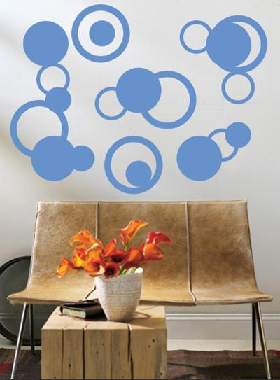 Blue Rings--Wall Decal