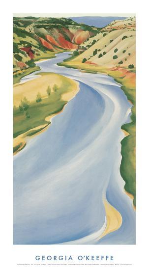 Blue River-Georgia O'Keeffe-Art Print