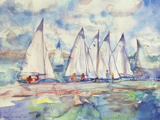 Blue Sailboats, 1989-Brenda Brin Booker-Giclee Print