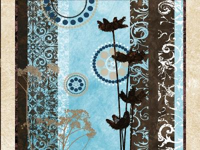 Blue Santorini Garden II-Michael Marcon-Premium Giclee Print