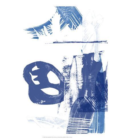 Blue Scribbles I-Vision Studio-Art Print