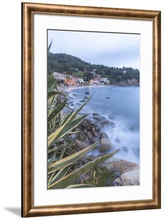 Blue sea at dusk, Marina di Campo, Elba Island, Livorno Province, Tuscany, Italy, Europe-Roberto Moiola-Framed Photographic Print