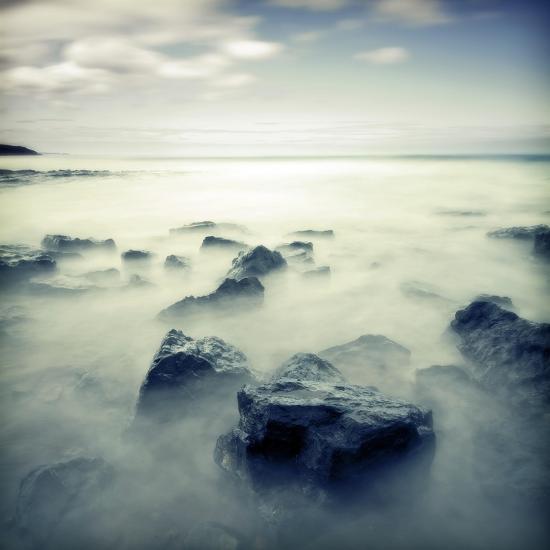 Blue Seascape 02-Tom Quartermaine-Giclee Print