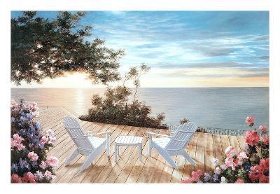 Blue Serenade-Diane Romanello-Art Print