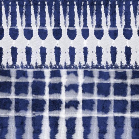Blue Shibori C-Linda Woods-Art Print
