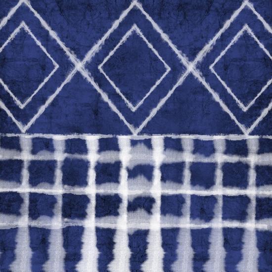 Blue Shibori D-Linda Woods-Art Print