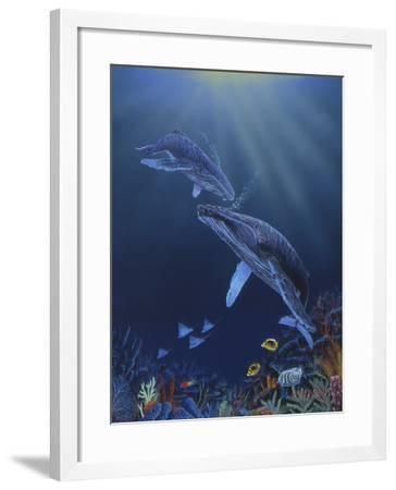 Blue Silence-Graeme Stevenson-Framed Giclee Print