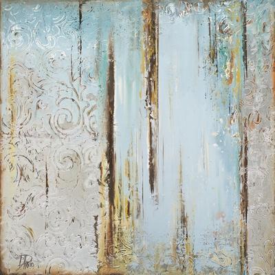Blue Silver Square I-Patricia Pinto-Art Print