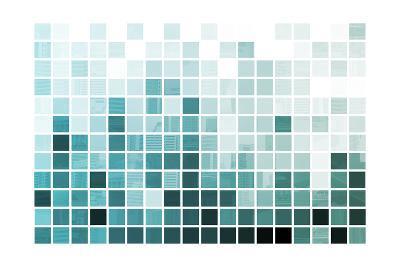 Blue Simplistic And Minimalist Abstract-kentoh-Art Print