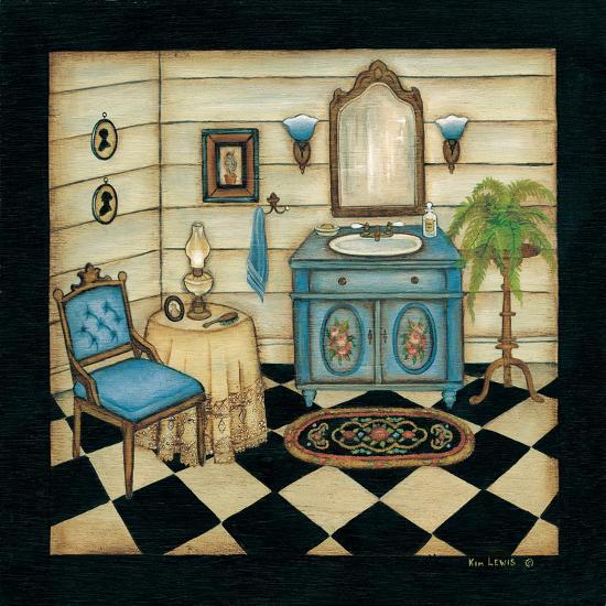 Blue Sink-Kim Lewis-Art Print