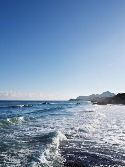 Blue Sky above Sea with Some Waves-Norbert Schaefer-Photographic Print