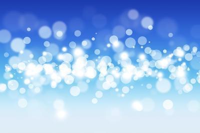 Blue Sky Blurry Lights-alexaldo-Art Print
