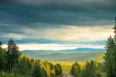 Blue Sky, Clouds and Field-Oleg Yermolov-Photographic Print