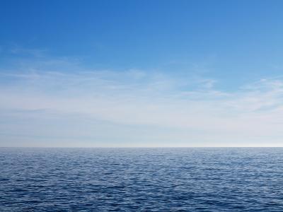 Blue Sky over Calm Sea-Norbert Schaefer-Photographic Print