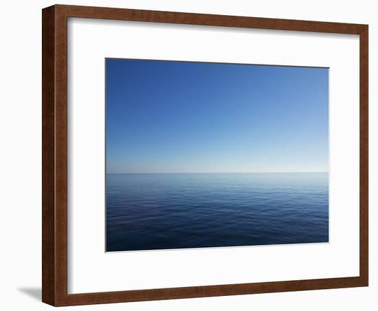 Blue Sky over Calm Sea-Norbert Schaefer-Framed Photographic Print
