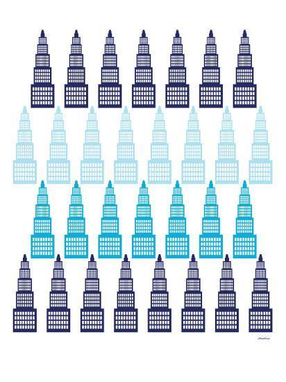 Blue Skyline-Avalisa-Art Print