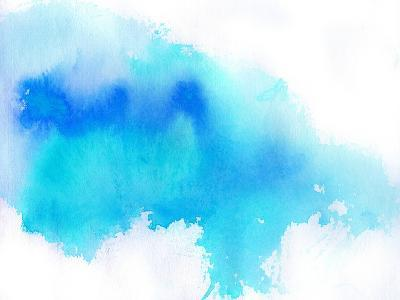 Blue Spot, Watercolor Abstract Hand Painted Background-katritch-Art Print