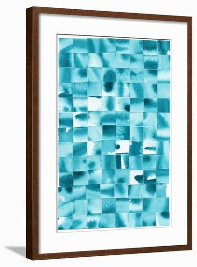 Blue Squares-Erin Lin-Framed Premium Giclee Print