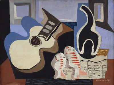 Blue Still Life with Bottle-Louis Marcoussis-Giclee Print