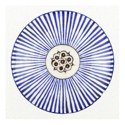 Blue Striped Bowl-Unknown 13th Century Persian Artisan-Art Print