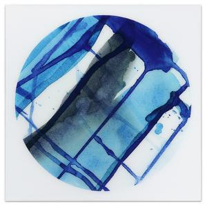 Blue Stripes 1 - Free Floating Tempered Glass Panel Graphic Wall Art