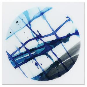 Blue Stripes 2 - Free Floating Tempered Glass Panel Graphic Wall Art