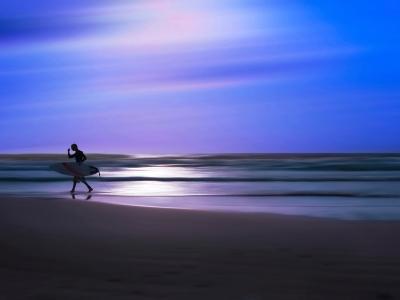 Blue Surfer II-Josh Adamski-Photographic Print