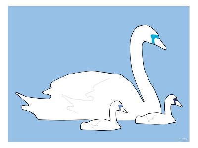 Blue Swan-Avalisa-Art Print