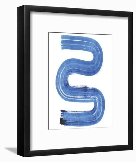 Blue Swish II-Bellissimo Art 0-Framed Art Print