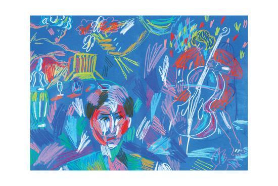 Blue Symphony-Sol Jeong-Giclee Print