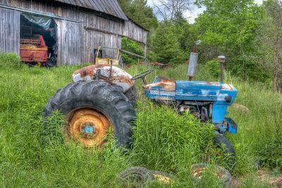 Blue Tractor-Bob Rouse-Photographic Print