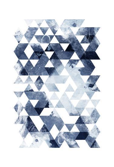 Blue Triangles Mate-OnRei-Art Print