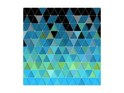 Blue Triangles Pattern-Maksim Krasnov-Art Print