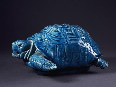 Blue Turtle-Clement Massier-Giclee Print