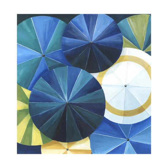 Blue Umbrella-Natasha Marie-Premium Giclee Print