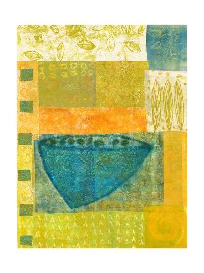 Blue Vase Rhythms-Doris Mosler-Premium Giclee Print