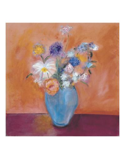 Blue Vase with Flowers-Nancy Ortenstone-Art Print