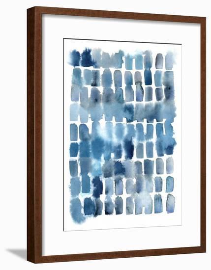 Blue Wash Blocks-Kelly Witmer-Framed Art Print