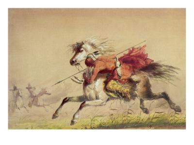 Blue Water Creek Battle, 1855-Alfred Jacob Miller-Giclee Print