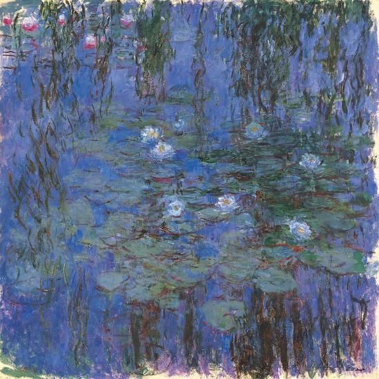Blue Water Lilies-Claude Monet-Art Print