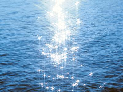 Blue Water, Sparkling--Photographic Print