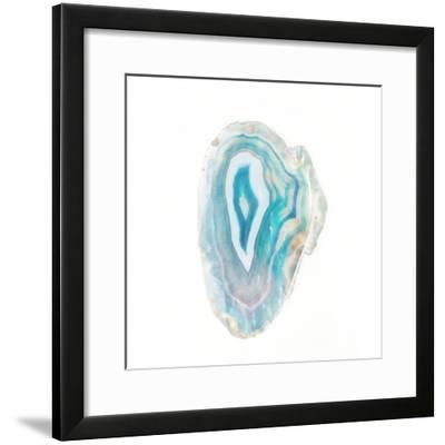 Blue Watercolor Agate Square-Susan Bryant-Framed Art Print